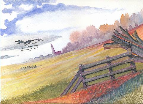 Autumn Field by Luke Aldington