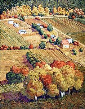 Autumn Fields by Donna Clair