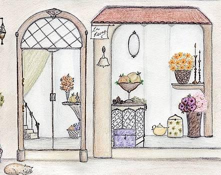 Autumn Flower Shop by Christine Corretti