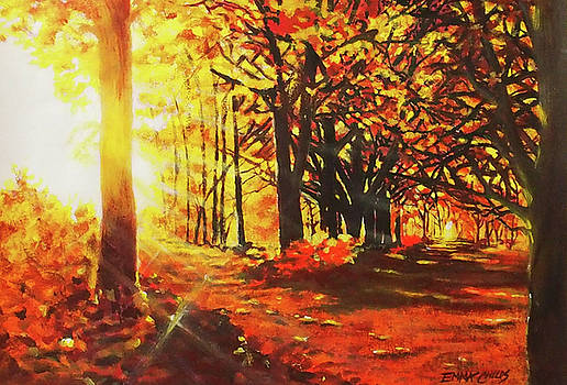 Autumn Forest Light by Emma Childs