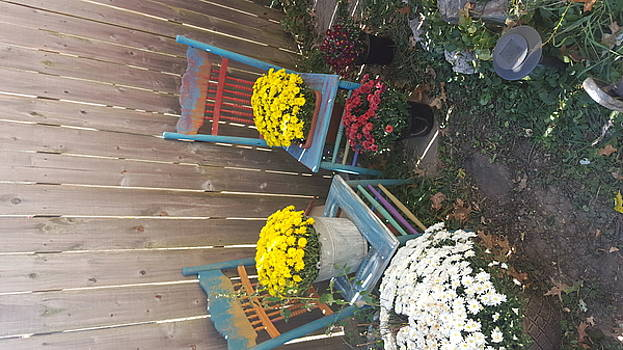 Autumn Garden Chairs by Michelle Jacobs-anderson