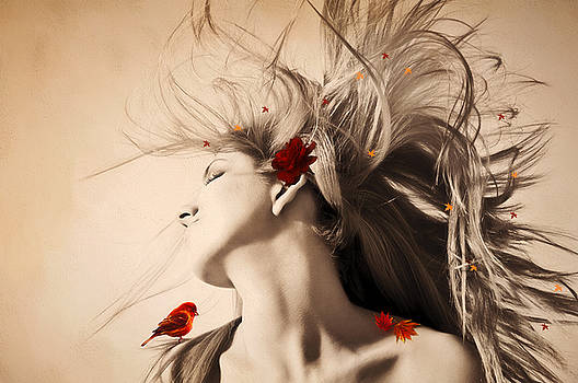 Autumn Goddess by Diane Schuster
