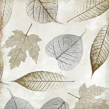 Autumn Gold Leaf Pattern II by Mindy Sommers