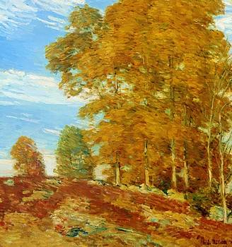 Autumn Hilltop New England 1906 by Hassam Childe