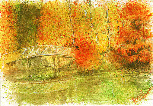 Autumn Landscape Painting  by Remy Francis