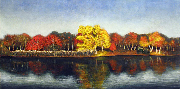 Autumn lake by Vladimir Kezerashvili