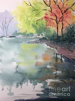Autumn Lake by Yohana Knobloch