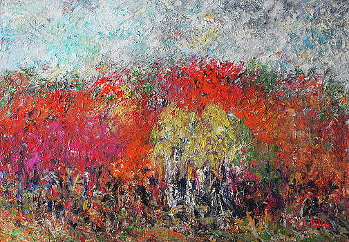 Autumn landscape  aka Autumn mood by Inga Leitasa ArtBonBon