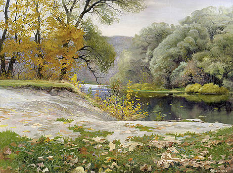 Autumn Landscape in the Vicinity of Eshar by Denis Chernov