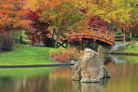 Autumn Landscape of Japanese Garden Lake by Greg Matchick