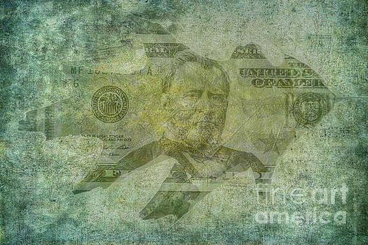 Autumn Leaf Paper Money by Randy Steele