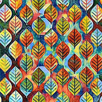 Autumn Leaves Abstract by Gabriella Weninger - David