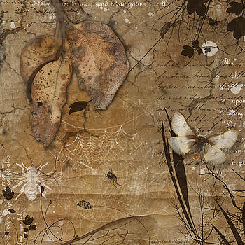 Autumn Leaves and Moth by Lesley Smitheringale