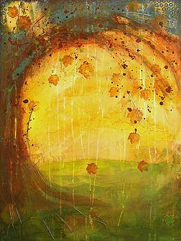 Autumn Leaves - Tree Series by Brenda O'Quin