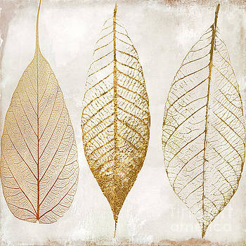 Autumn Leaves III Fallen Gold by Mindy Sommers