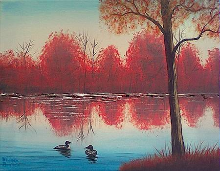 Autumn Loons by Brenda Bonfield