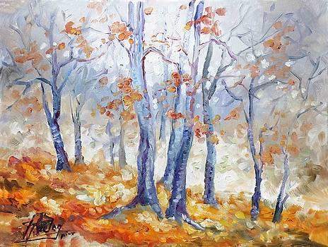 Autumn mist - morning by Irek Szelag