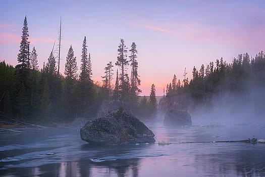 Autumn Mist on the Firehole River by Scott Wheeler
