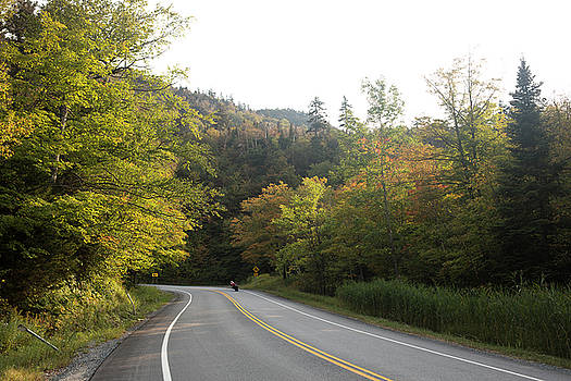 Autumn Motorcyclist, Vermont by New England Photographic