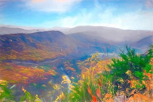 Autumn mountain view,Pennsylvania. by Rusty R Smith