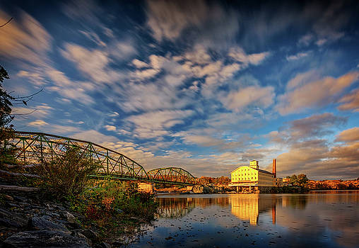 Autumn on the Androscoggin River by Rick Berk