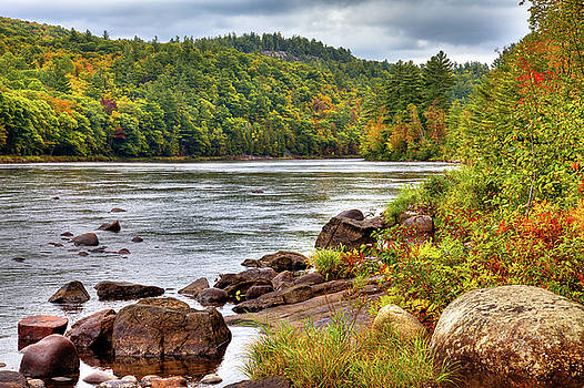 Autumn on the Hudson River by David Patterson