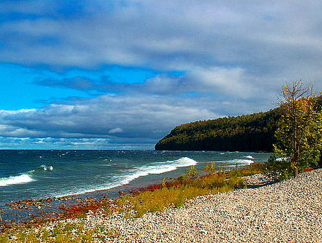 Autumn on the Shore  of Green Bay by Denise   Hoff