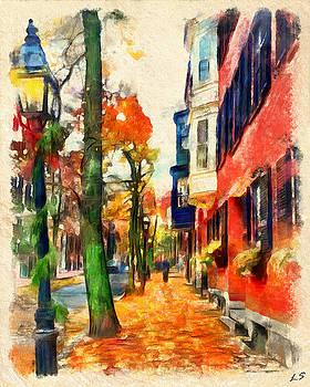 Autumn on the streets of Boston by Sergey Lukashin