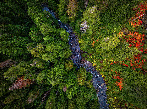 Autumn Over the Snoqualmie by Andrew Zuber