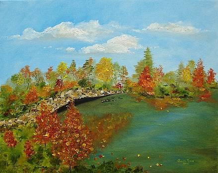 Autumn Pond by Judith Rhue