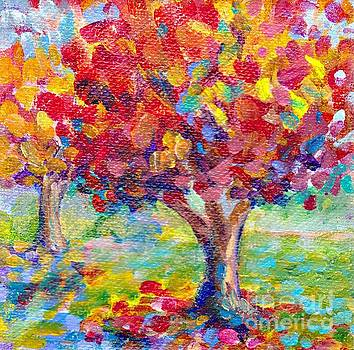Autumn Reds by Peggy Johnson by Peggy Johnson