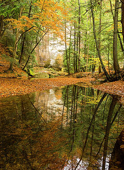 Autumn Reflections at Hocking Hills  by Matt Shiffler