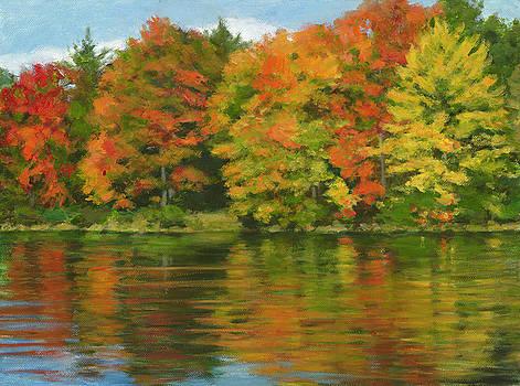 Autumn Reflections by Lynne Adams