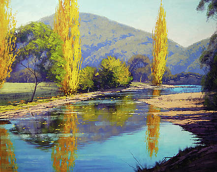 Autumn reflections Tumut by Graham Gercken
