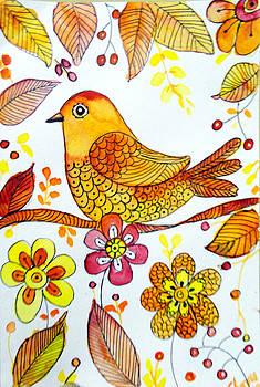 Autumn Robin by Charu Jain