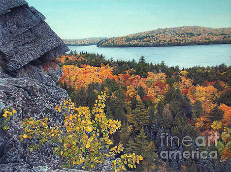 Autumn Rocks Booth's Rock Lookout by Susan Fraser SCA  B Sc