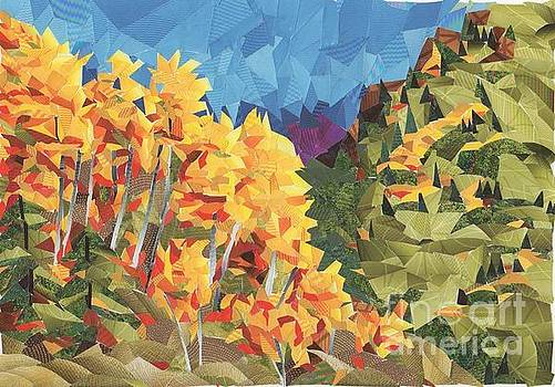 Autumn Rush at High Nogal by Jan Burley Hunt