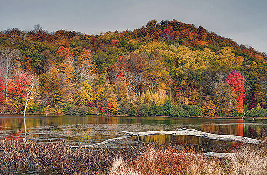 Autumn scenic at Monkville Reservoir New Jersey by Geraldine Scull