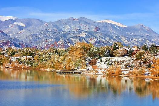 Autumn Snow at the Lake by Diane Alexander