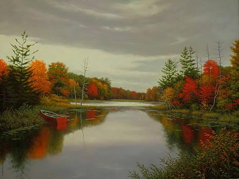 Autumn Stillness by Barry DeBaun