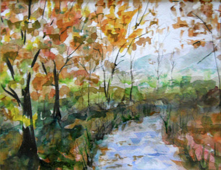 Autumn Stream by Olga Kaczmar
