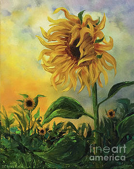 Autumn Sunflower by Jackie Cleveland