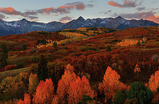 Autumn sunrise at Dallas Divide in Colorado by Jetson Nguyen