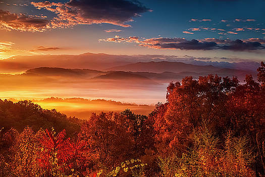 Autumn Sunrise in the Smokies by Andrew Soundarajan
