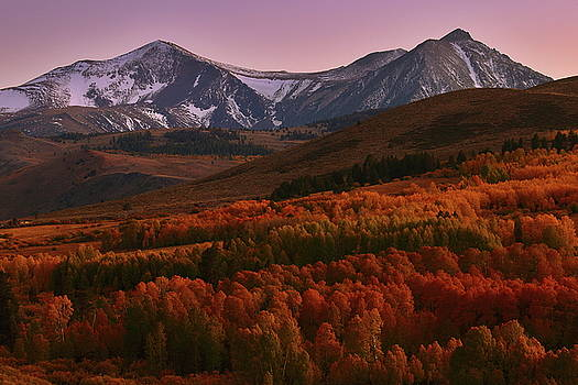 Autumn sunset at Conway Summit in the Eastern Sierras by Jetson Nguyen