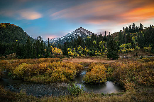 Autumn Sunset in Big Cottonwood Canyon by James Udall