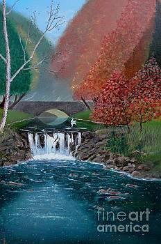Autumn Swan by John Lyes