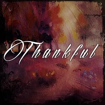 Autumn Thankful Mug  by Michele Carter