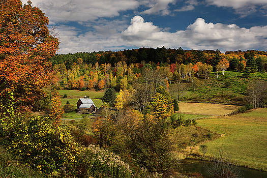 Reimar Gaertner - Autumn tree colors at Sleepy Hollow Farm Homestead on Cloudland