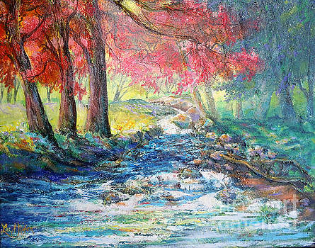 Autumn View of Bubbling Creek by Lee Nixon